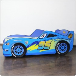 Cars Boy Bed with 3D Wheels Blue A/B