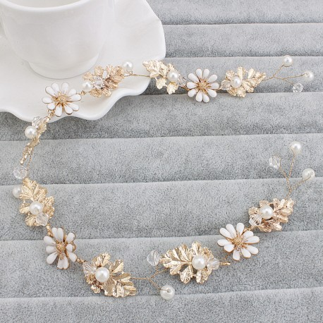 Gold and white flower tiara aden aden gold and white flower tiara mightylinksfo
