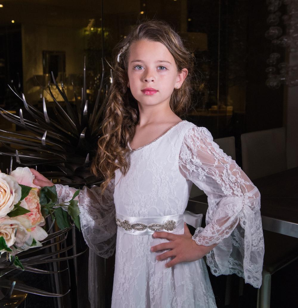 729304e88c4 Lysandra Flower Girl Dress Trumpet Sleeves - Aden