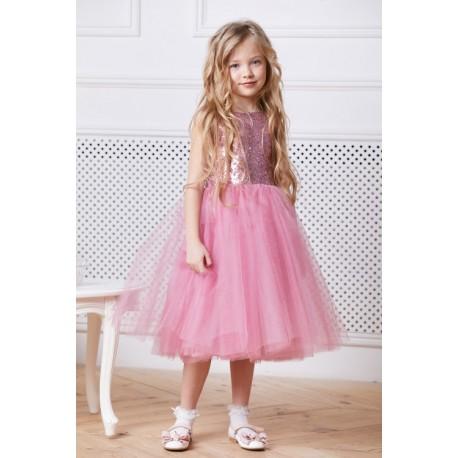 9a93cbc30d5 Blush Pink Flower Girl Dress - Aden