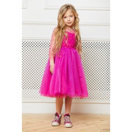 ca38c9d6aec Fuchsia Flower Girl Dress - Aden
